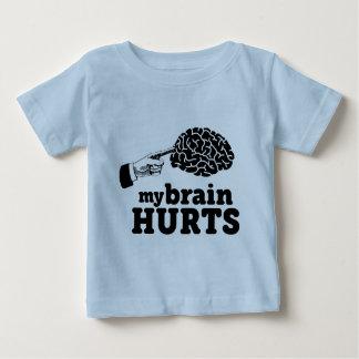 Camiseta Para Bebê Meus danos do cérebro