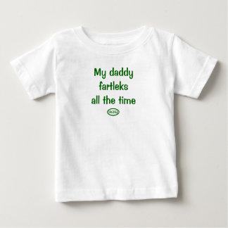 Camiseta Para Bebê Meus fartleks do pai todo o tempo