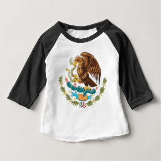 Camiseta Para Bebê Mexicano Eagle e cobra