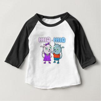 Camiseta Para Bebê Mia e artigos comestíveis Mio