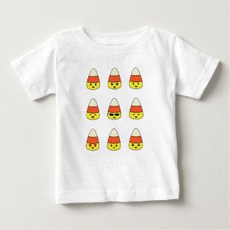 Camiseta Para Bebê Milho de doces engraçado Emoji