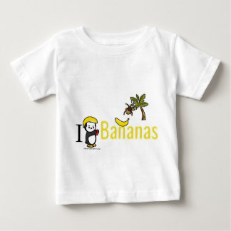 Camiseta Para Bebê Mim bananas do coração!