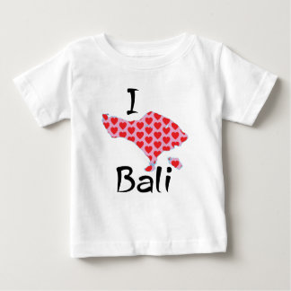 Camiseta Para Bebê Mim coração Bali