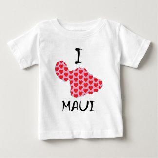 Camiseta Para Bebê Mim coração Maui