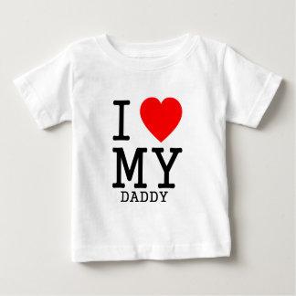 Camiseta Para Bebê Mim coração MEU pai