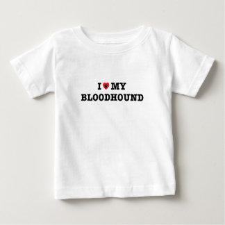 Camiseta Para Bebê Mim coração meu t-shirt do bebê do Bloodhound