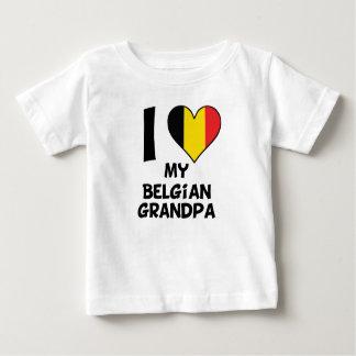 Camiseta Para Bebê Mim coração meu vovô belga