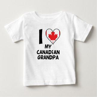 Camiseta Para Bebê Mim coração meu vovô canadense