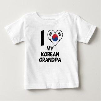 Camiseta Para Bebê Mim coração meu vovô coreano