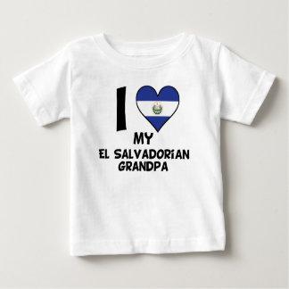 Camiseta Para Bebê Mim coração meu vovô do EL Salvadorenho