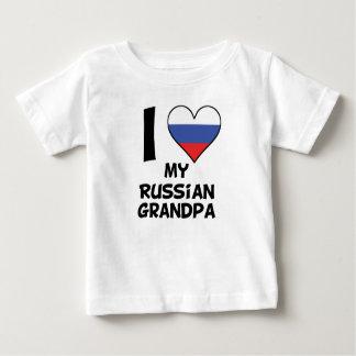 Camiseta Para Bebê Mim coração meu vovô do russo