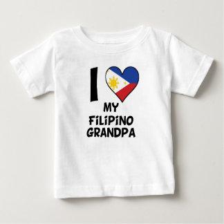 Camiseta Para Bebê Mim coração meu vovô filipino