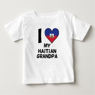 Camiseta Para Bebê Mim coração meu vovô haitiano