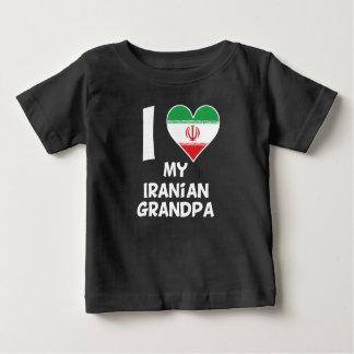 Camiseta Para Bebê Mim coração meu vovô iraniano
