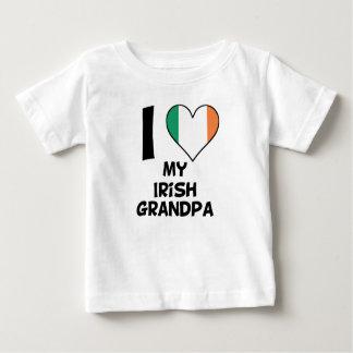 Camiseta Para Bebê Mim coração meu vovô irlandês
