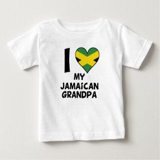 Camiseta Para Bebê Mim coração meu vovô jamaicano