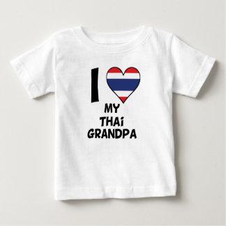 Camiseta Para Bebê Mim coração meu vovô tailandês