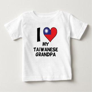 Camiseta Para Bebê Mim coração meu vovô taiwanês