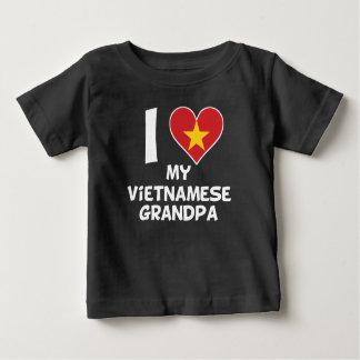 Camiseta Para Bebê Mim coração meu vovô vietnamiano