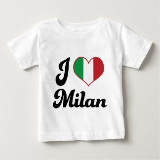 Camiseta Para Bebê Mim coração Milão Italia (amor)