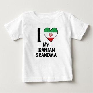 Camiseta Para Bebê Mim coração minha avó iraniana