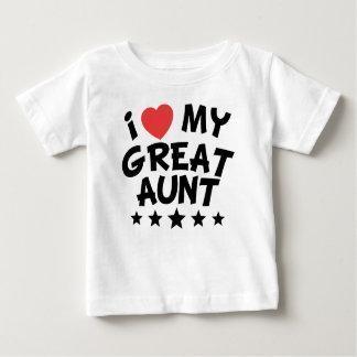 Camiseta Para Bebê Mim coração minha grande tia