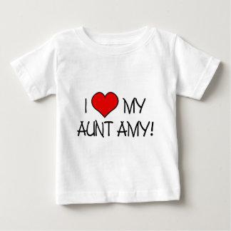 Camiseta Para Bebê Mim (coração) minha tia Amy!