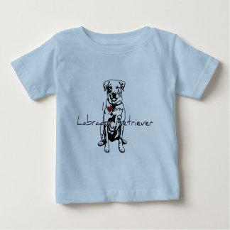 """Camiseta Para Bebê Mim """"coração"""" minhas palavras de labrador"""