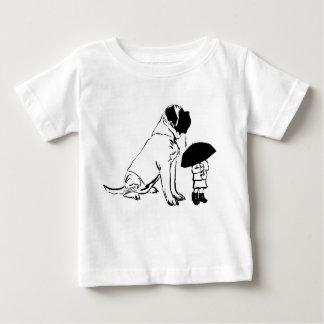 Camiseta Para Bebê Mim e meu Mastiff