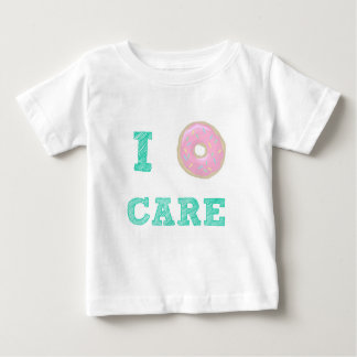"""Camiseta Para Bebê """"Mim t-shirt do bebê do cuidado da rosquinha"""""""