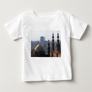 Camiseta Para Bebê Minaretes panorama de mesquita Cairo
