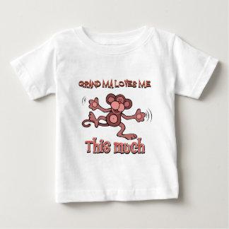 Camiseta Para Bebê Minha avó ama-me este muito
