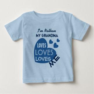 Camiseta Para Bebê Minha AVÓ ama-me o texto feito sob encomenda V06