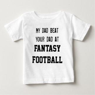 Camiseta Para Bebê Minha batida do pai seu pai no FUTEBOL da FANTASIA
