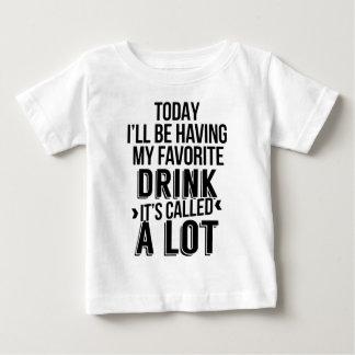 Camiseta Para Bebê Minha bebida favorita