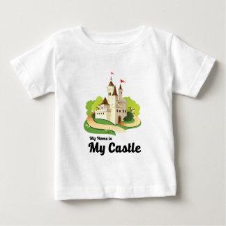 Camiseta Para Bebê minha casa meu castelo