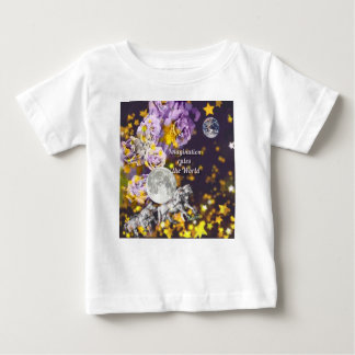 Camiseta Para Bebê Minha imaginação é infinita