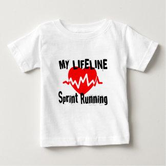 Camiseta Para Bebê Minha linha de vida design Running dos esportes de