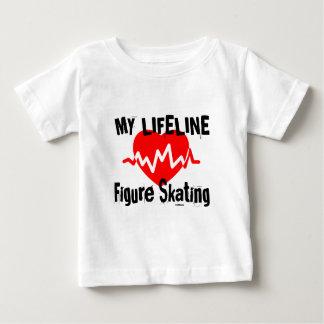 Camiseta Para Bebê Minha linha de vida patinagem artística ostenta o