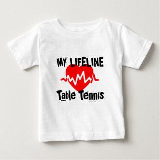 Camiseta Para Bebê Minha linha de vida ténis de mesa ostenta o design