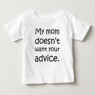 Camiseta Para Bebê Minha mamã não quer seu conselho