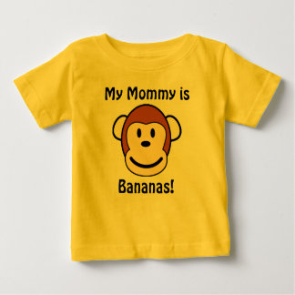 Camiseta Para Bebê Minha mamãe é bananas!