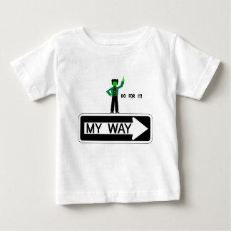 Camiseta Para Bebê Minha maneira - vá para ela!