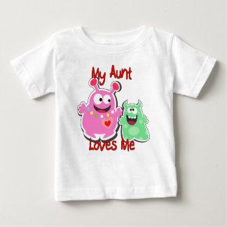 Camiseta Para Bebê Minha tia Amor Me Monstro