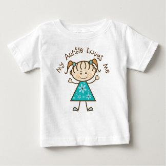Camiseta Para Bebê Minha tia Amor Me Presente