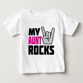 Camiseta Para Bebê Minha tia Rocha