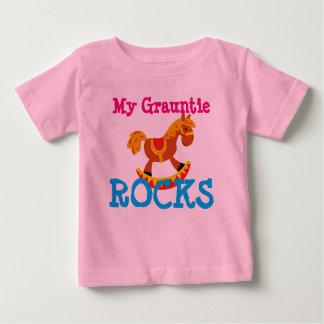 """Camiseta Para Bebê """"Minhas rochas de Grauntie! """""""