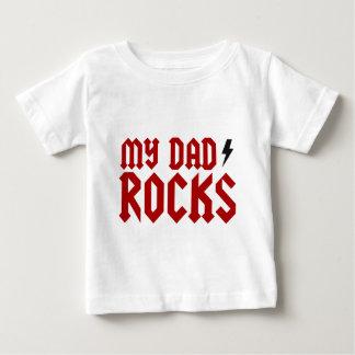 Camiseta Para Bebê Minhas rochas do pai