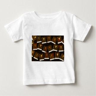 Camiseta Para Bebê Ministério abstrato da Bíblia Sagrada