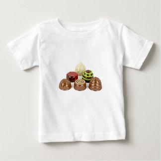 Camiseta Para Bebê Mistura de doces de chocolate